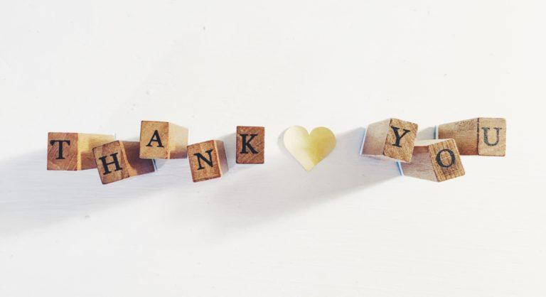 Napis thank you