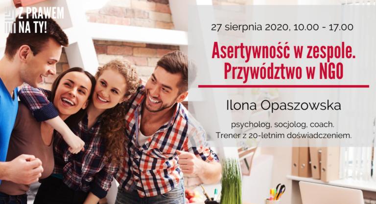 Banner na szkolenie Ilona Opaszowska