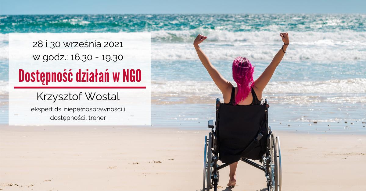 Dostępność działań w NGO – zaproszenie na szkolenie w dniach 28 i 30 września 2021 r.