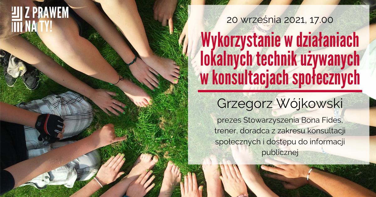 Wykorzystanie w działaniach lokalnych technik używanych w konsultacjach społecznych – webinarium w dniu 20 września