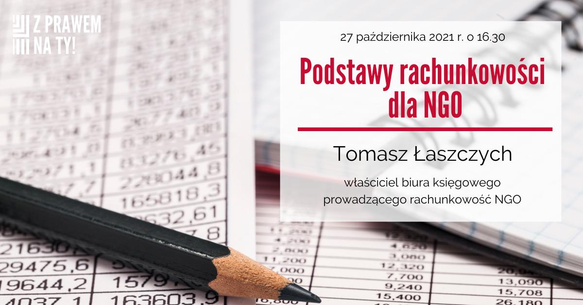 Podstawy rachunkowości dla NGO – zaproszenie na webinarium w dniu 27 października